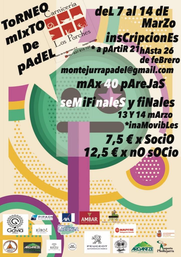 Pádel, 22-2-20, VII torneo mixto Los Porches