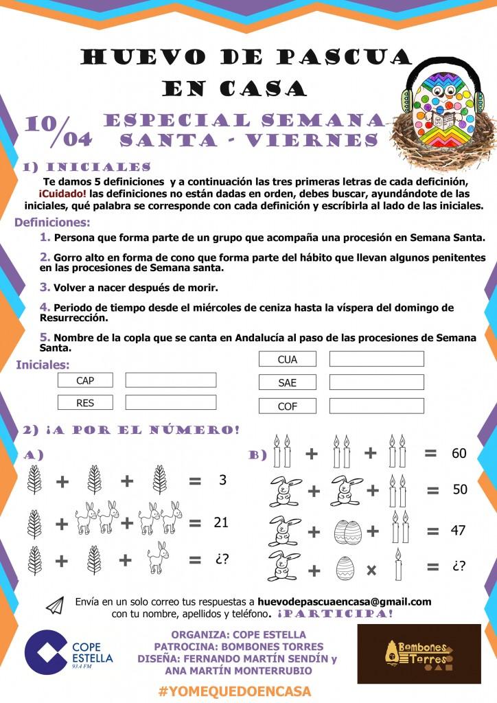 PRUEBA 13 10/04/2020 ESPECIAL SEMANA SANTA 2
