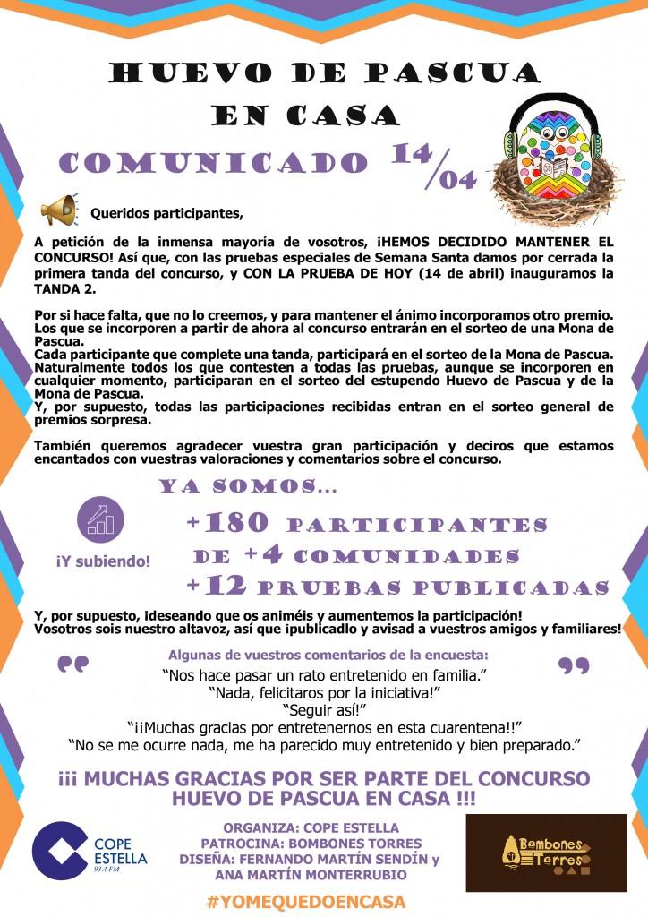 COMUNICADO MONA DE PASCUA 14/04/2020